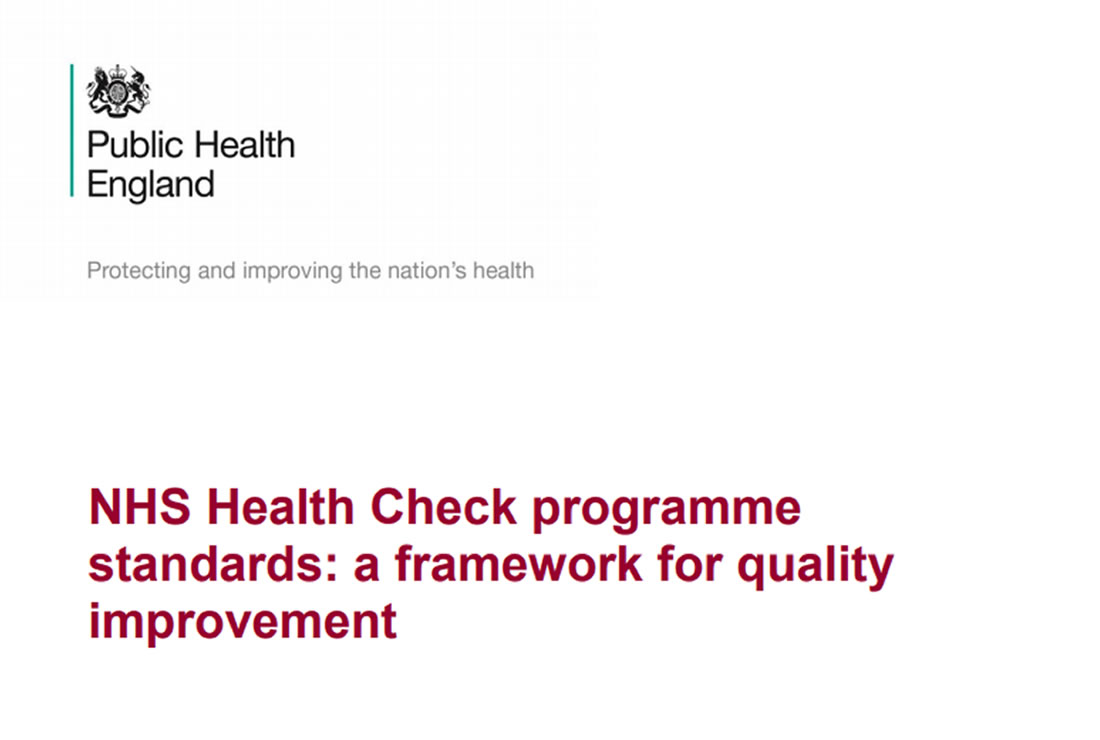 NHS Health Check programme standards: a framework for quality improvement